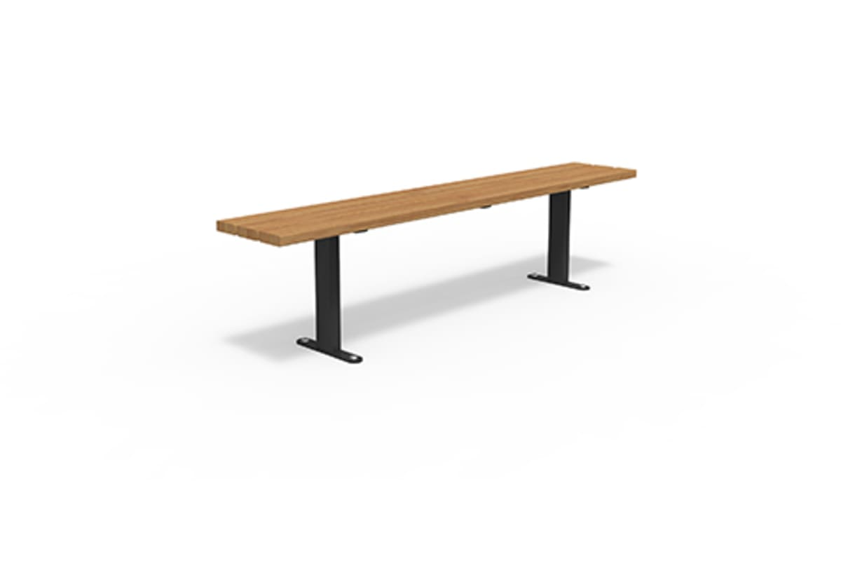 essentials steel powder coated bench