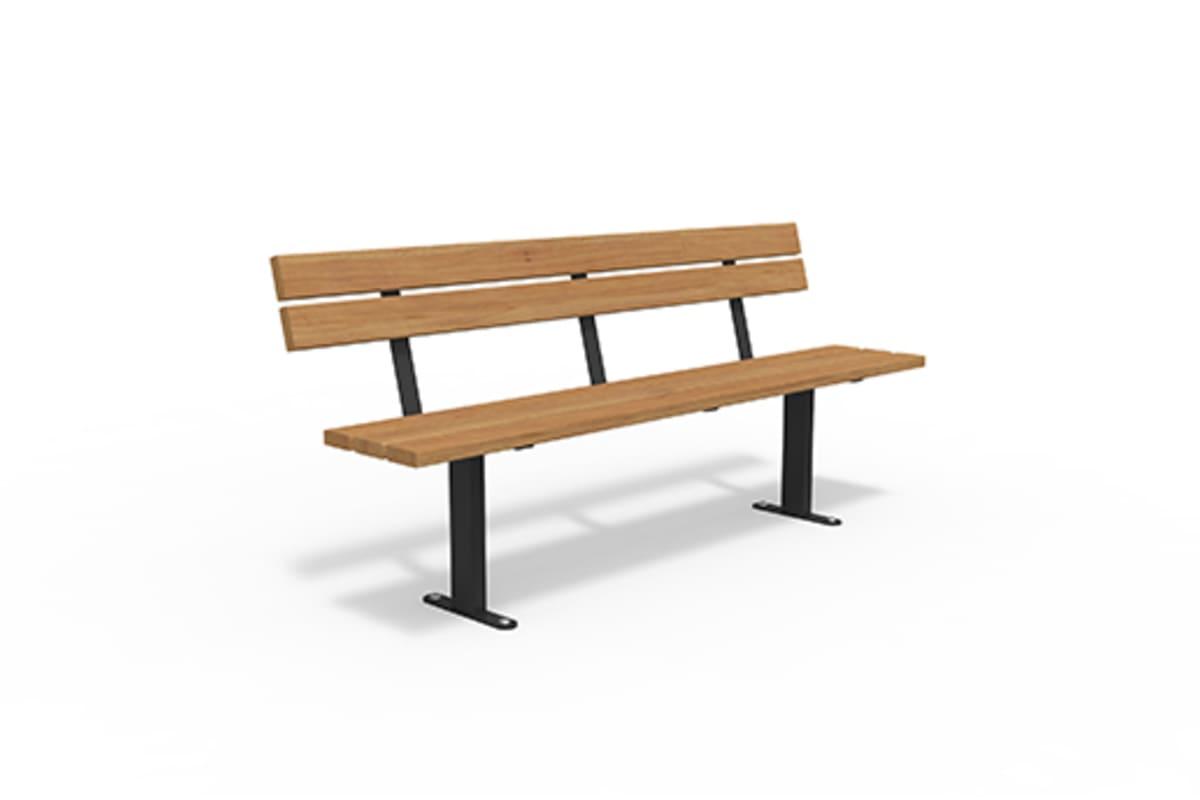 essentials steel powder coated hardwood seat
