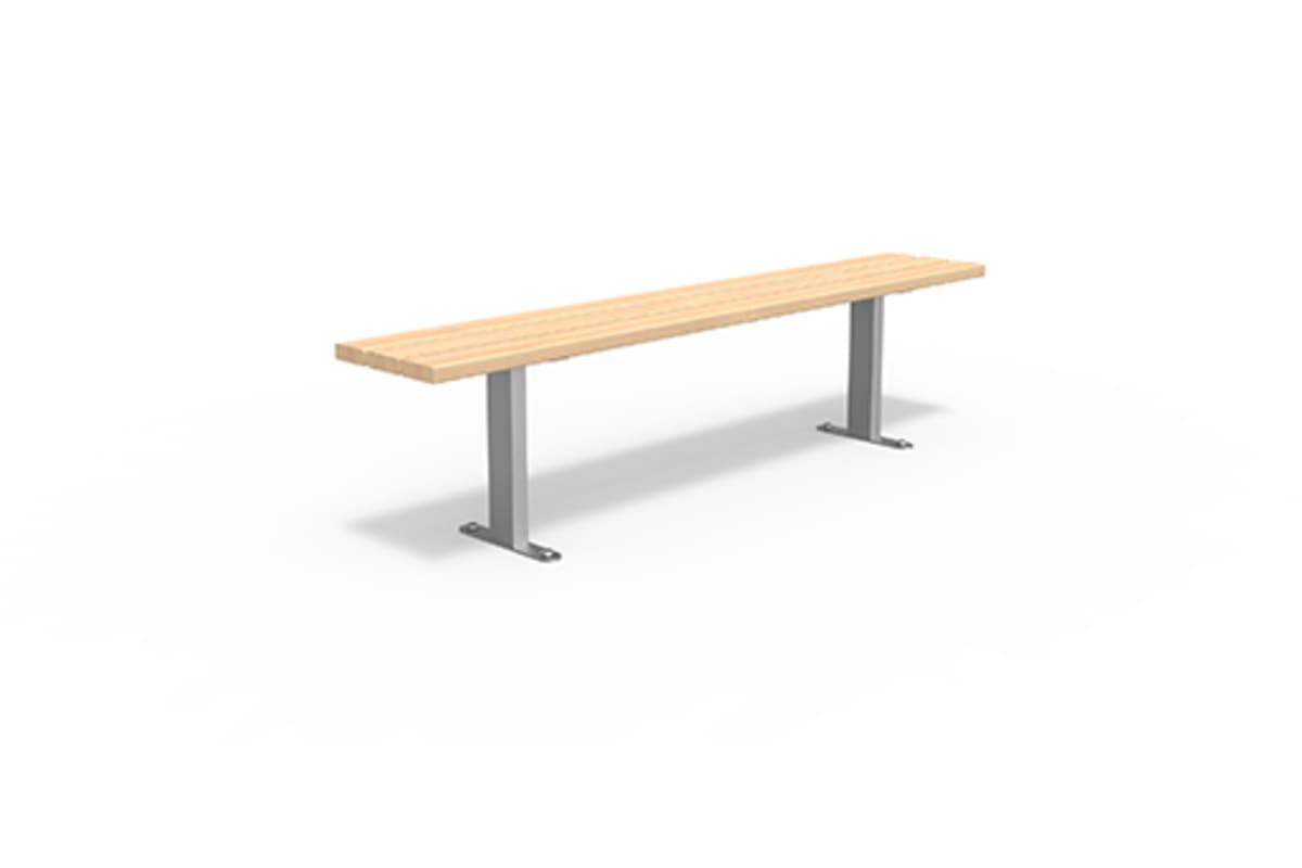 essentials 304 stainless steel bench