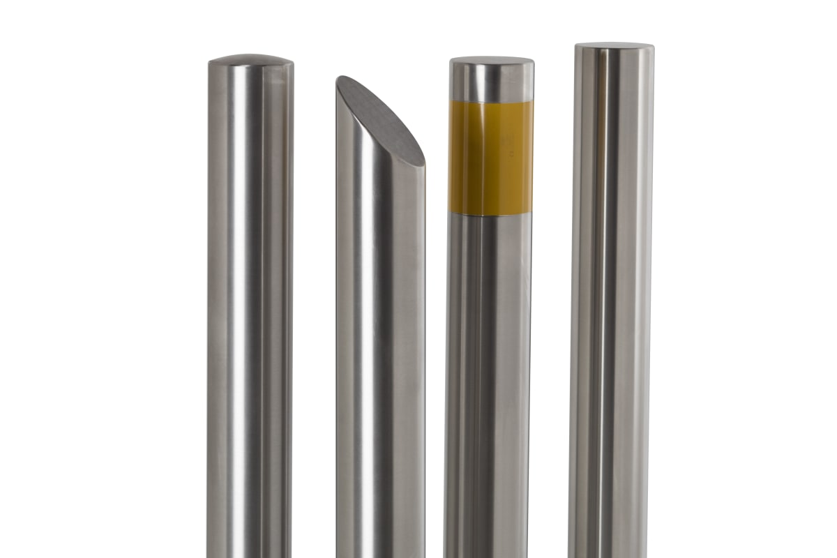essentials 304 stainless steel bollards brushed satin finish