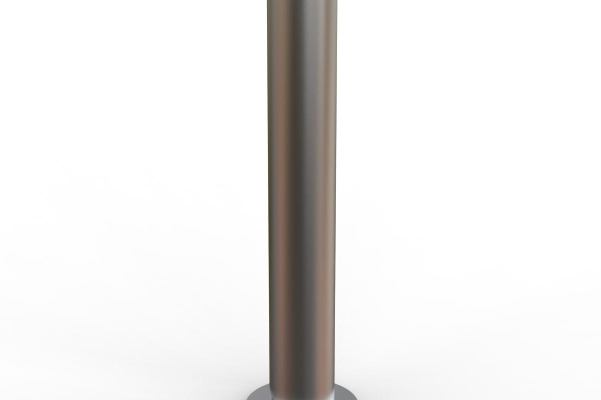 essentials 304 stainless steel flat top bollard - surface mount