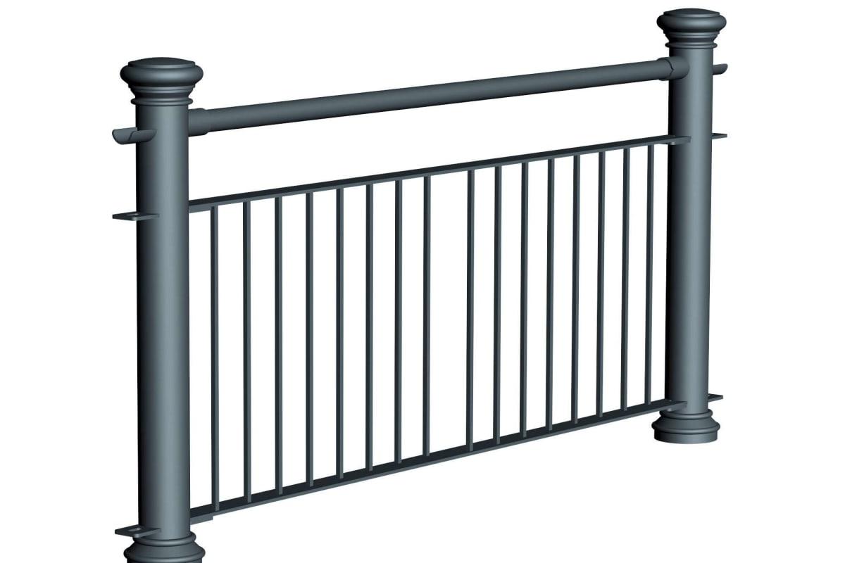 ferrocast regent 2 (reduced hi vis) polyurethane pedestrian guard rail
