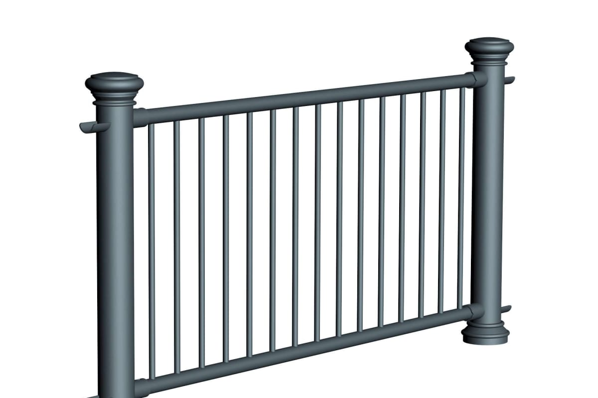 ferrocast regent 3 (pgr3) polyurethane pedestrian guard rail