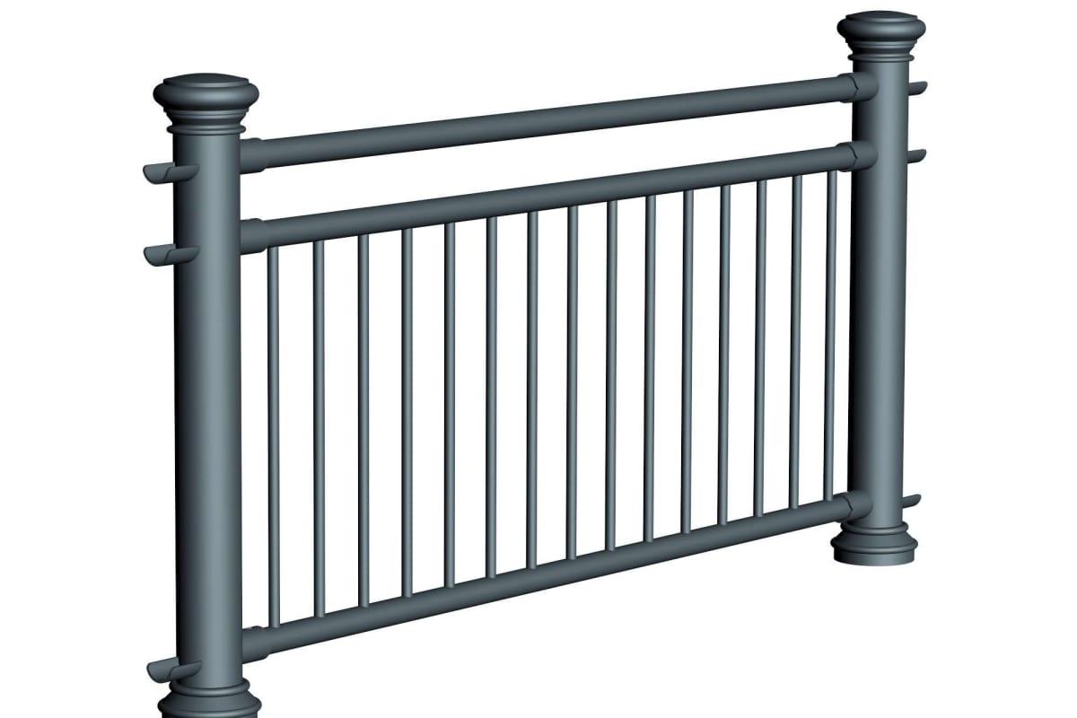 ferrocast regent 4 (pgr3) polyurethane pedestrian guard rail