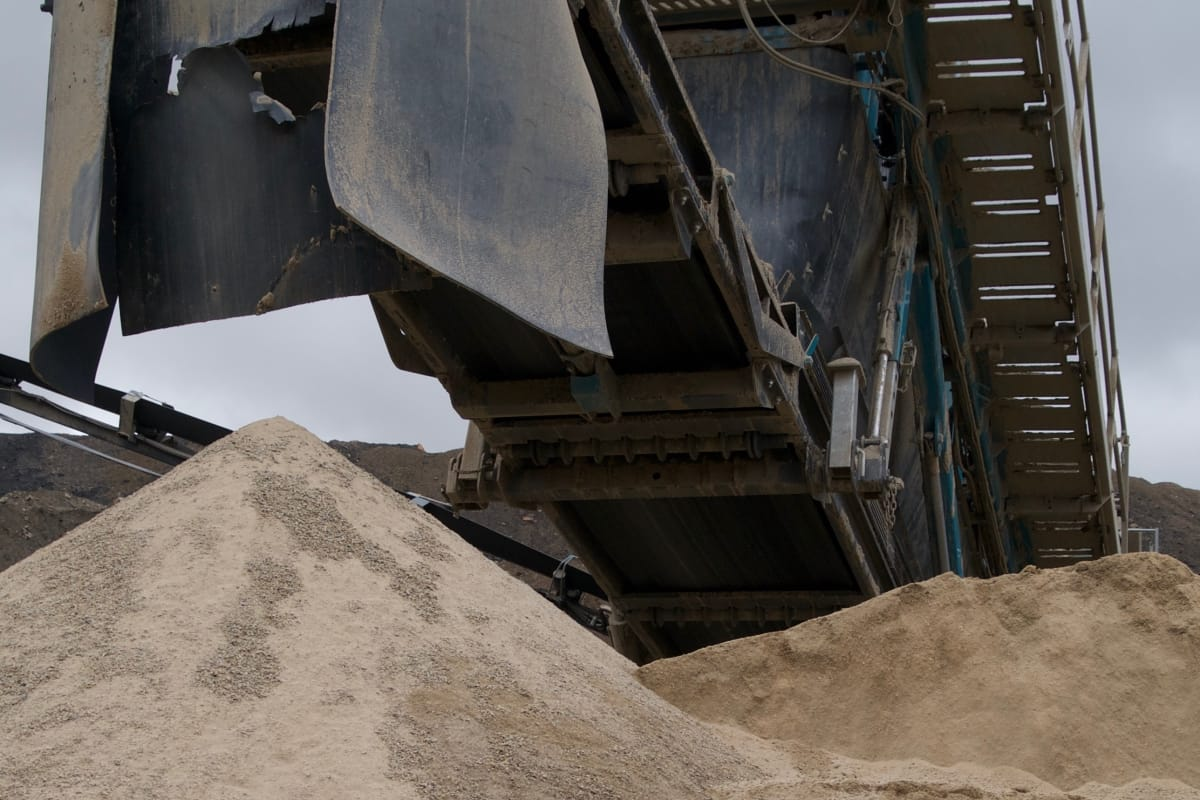 sand at the quarry