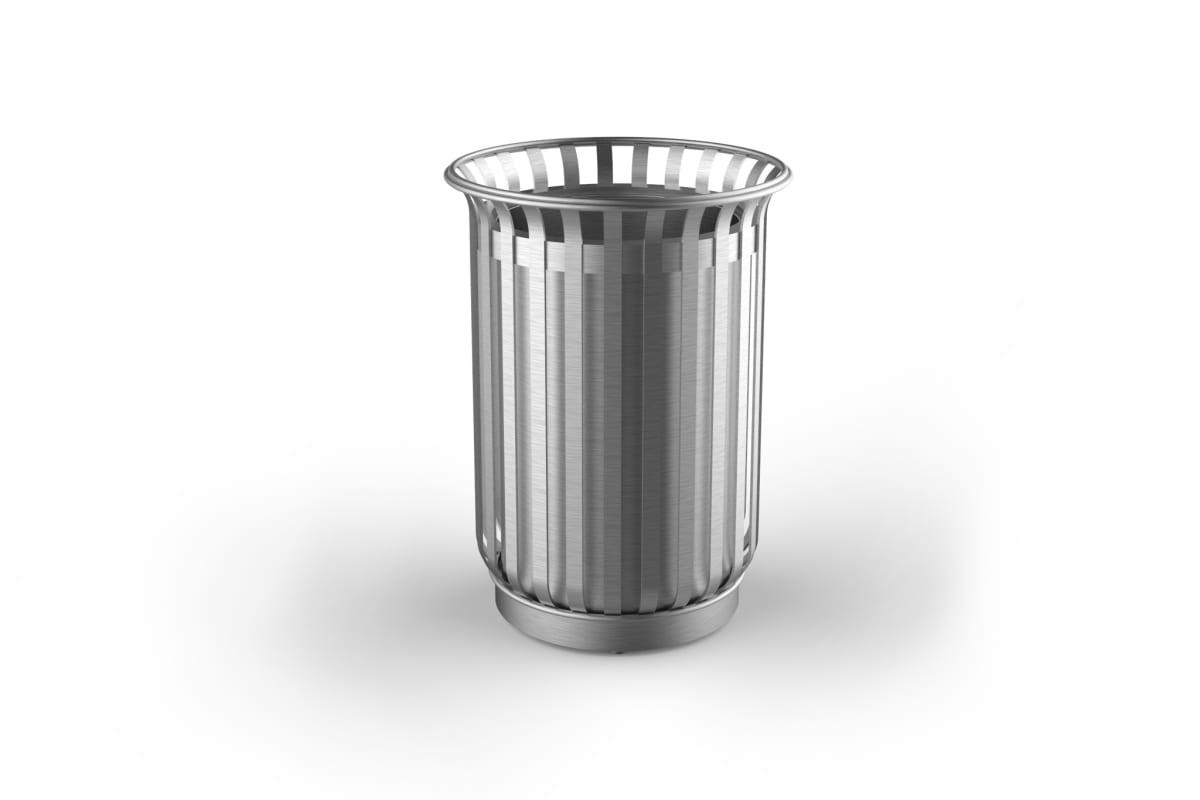 m3 110l litter bin stainless steel