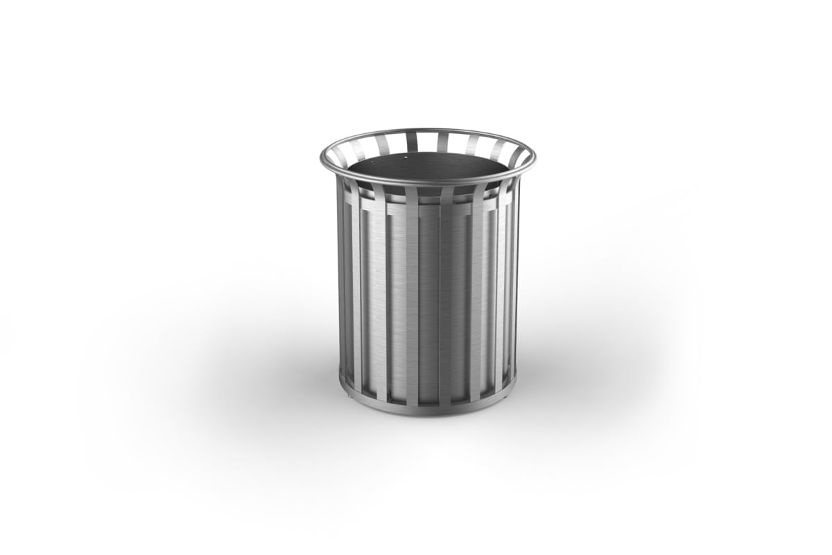 m3 90l litter bin stainless steel
