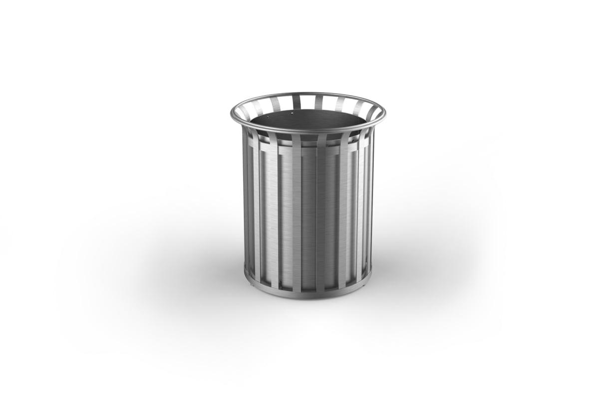 m3 90l litter bin stainless steel