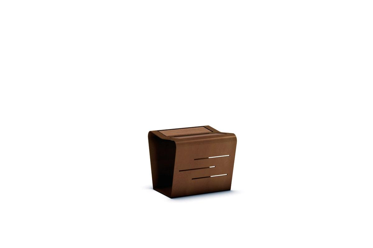 mac stool with wood