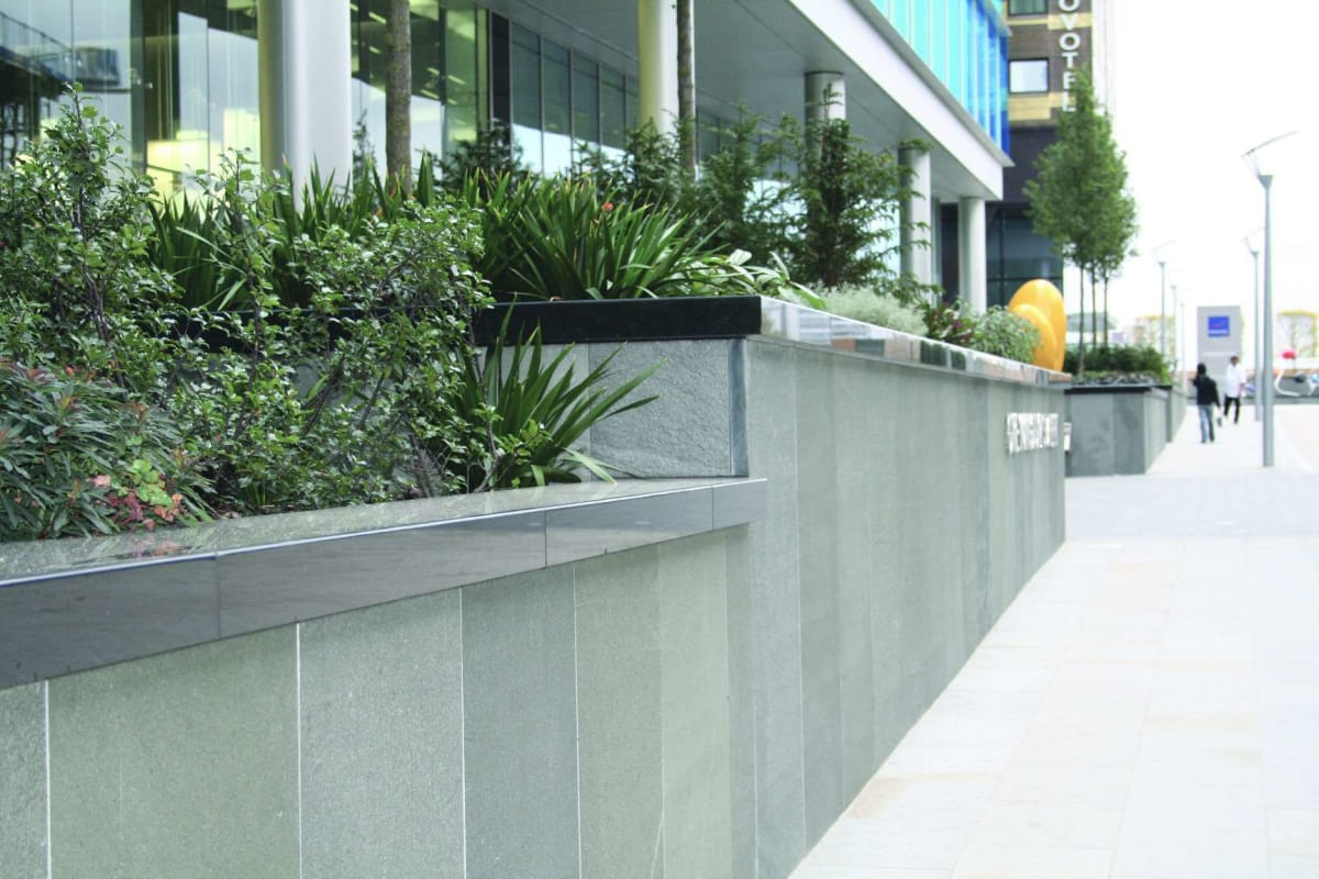 alta quartzite cladding - green - london