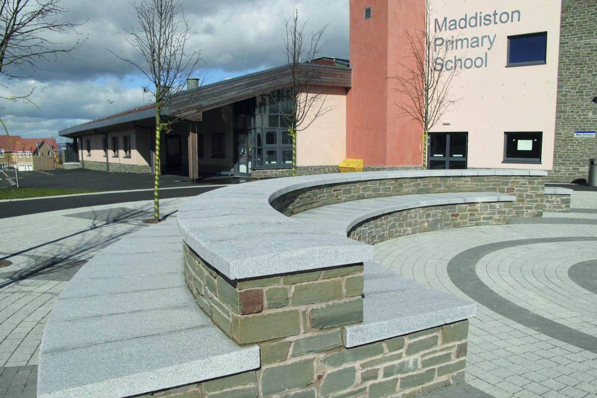 marshalls granite silver grey polished copings maddiston