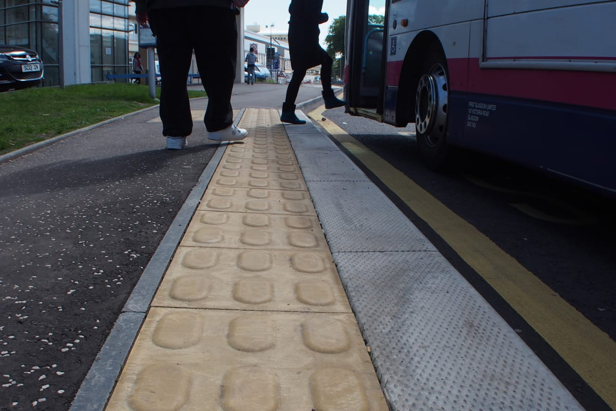 lozenge tactile paving - buff