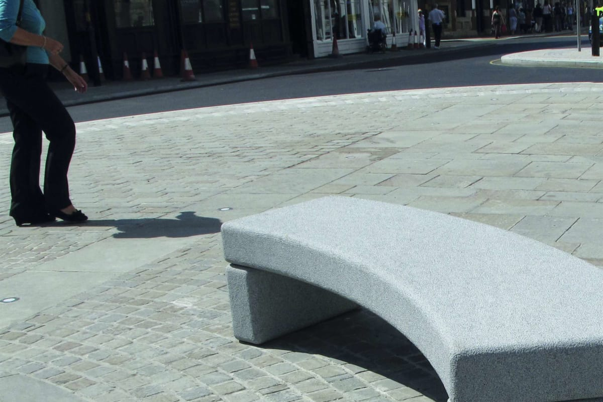 marshalls scoutmoor flamed yorkstone granite silver grey bench selby