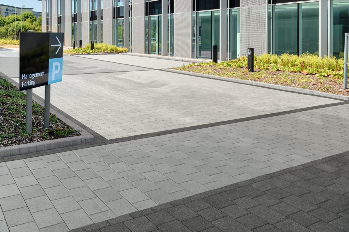 modal paving - mid grey