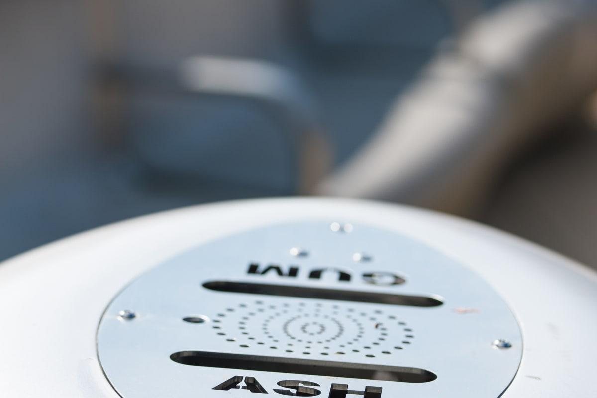 monoscape igneo bin ashtray detail
