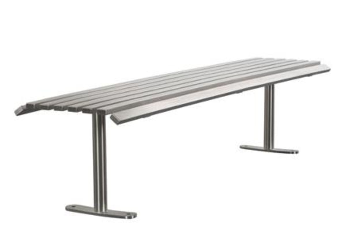 ollerton academy bench in stainless steel