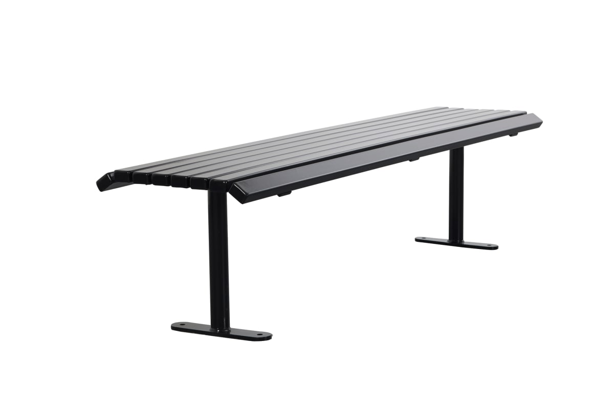 ollerton academy bench in steel