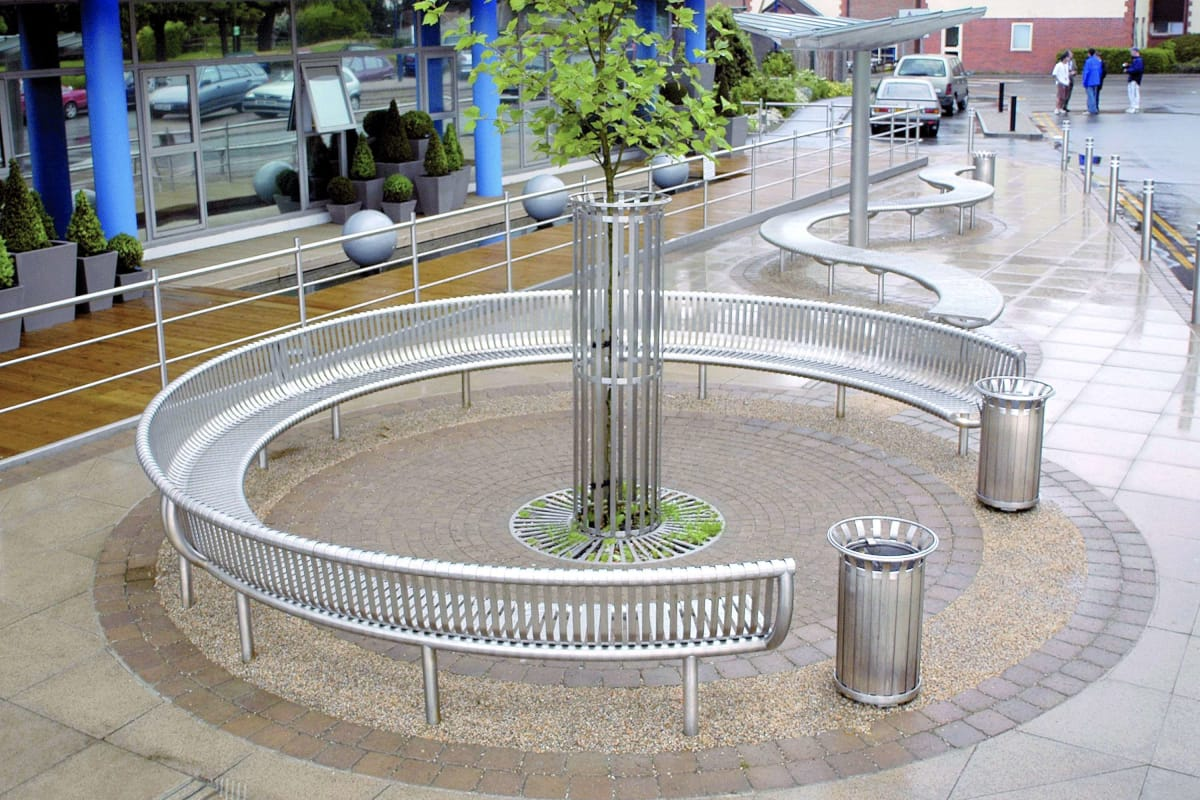 ollerton m3 curved seat in stainless steel