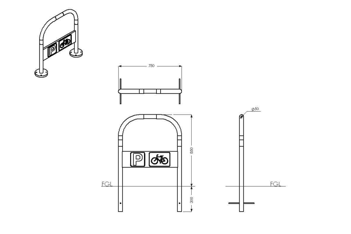 red route cycle stand