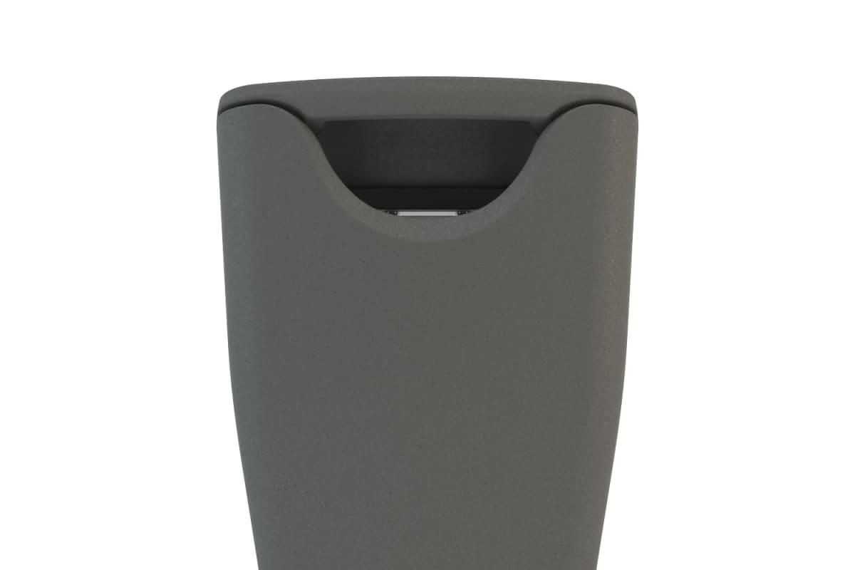 spring litter bin in charcoal grey