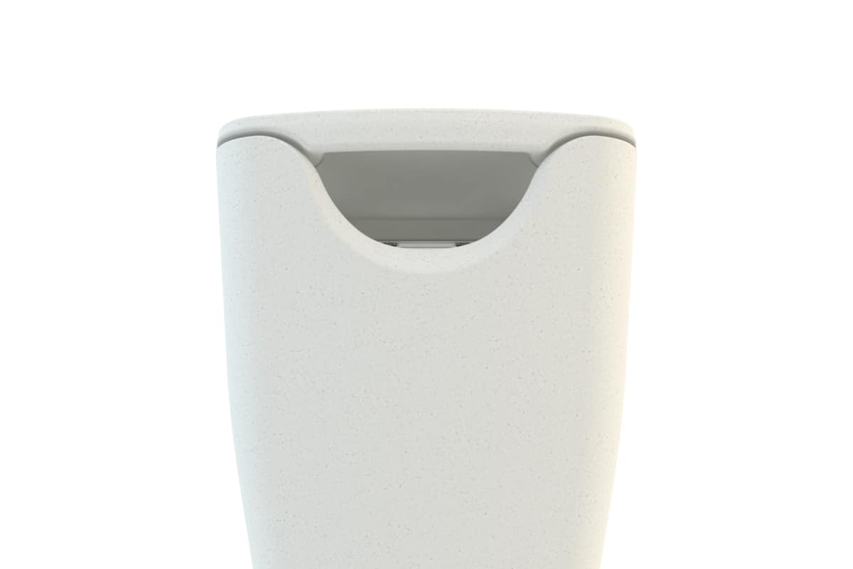 spring litter bin in white