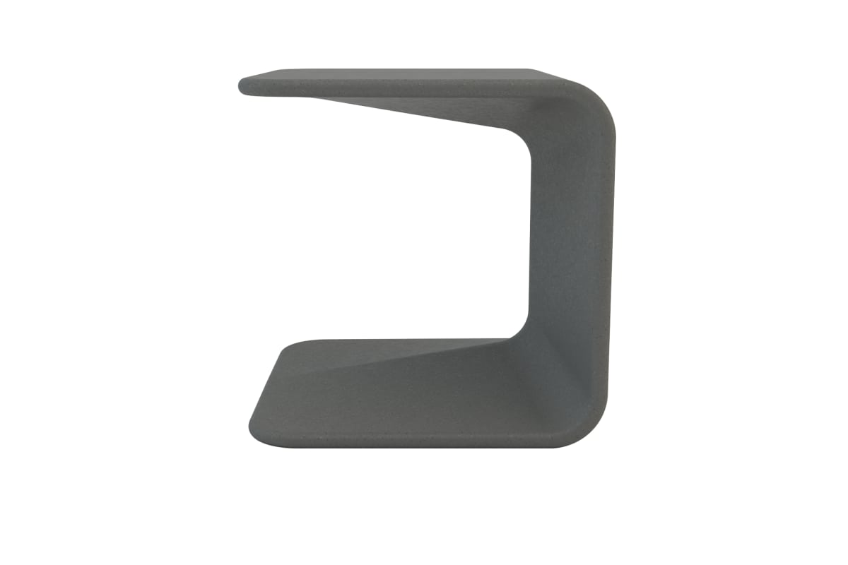 spring stool in charcoal grey