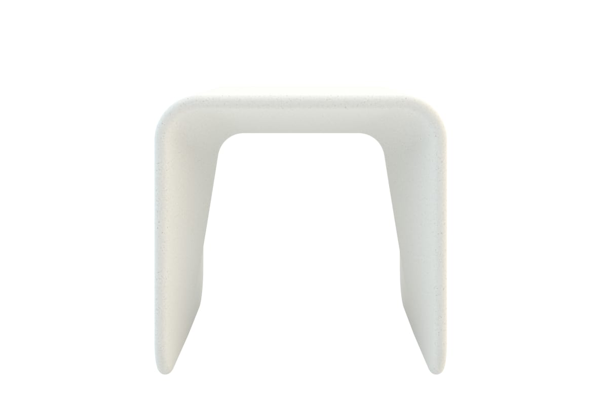 spring stool in white