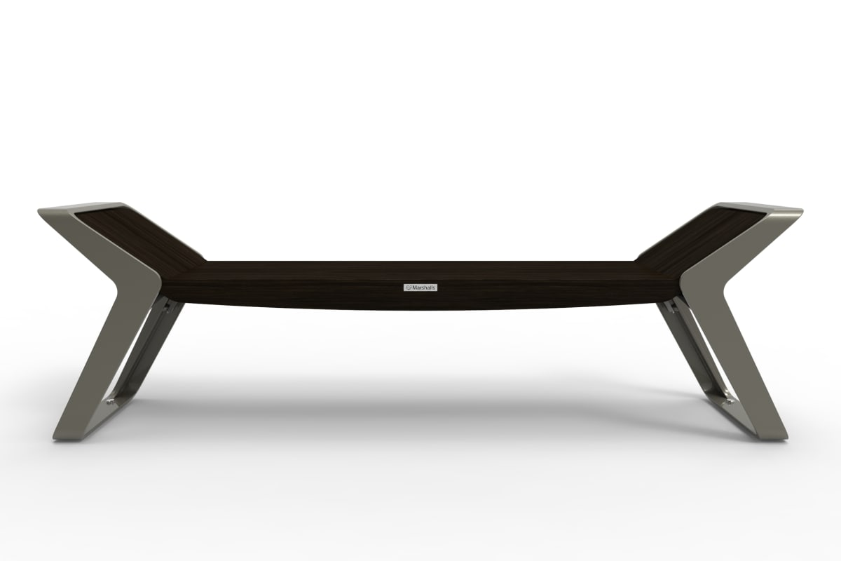 stratic bench - back view - onyx and quartz
