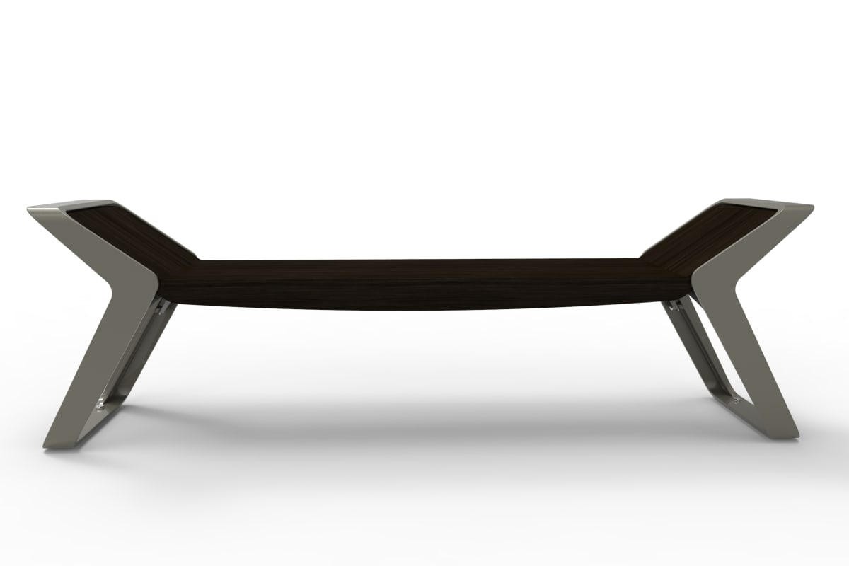 stratic bench - front view - onyx and quartz