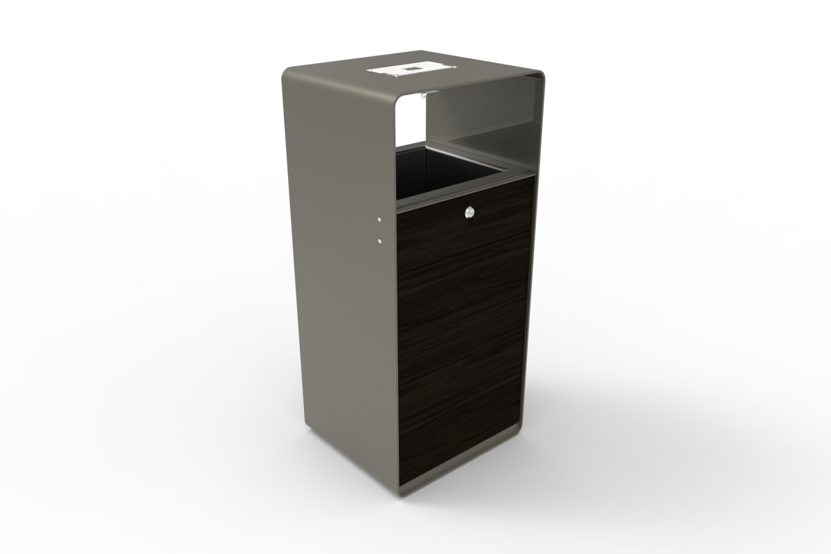 stratic litter bin - onyx and quartz