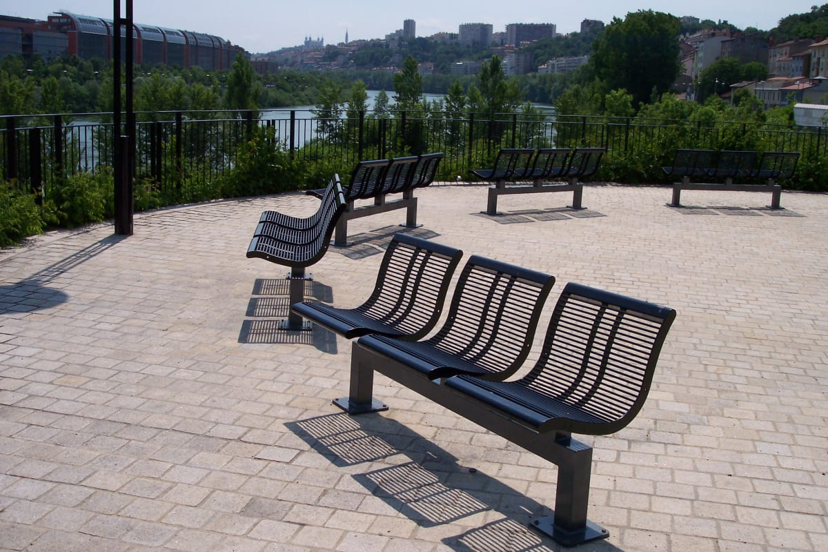 urban city trio seat in steel