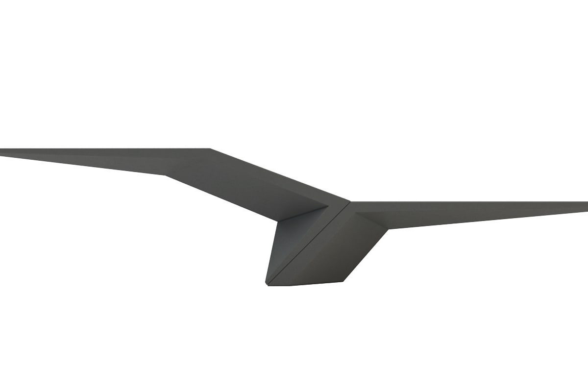 wing duo in charcoal grey