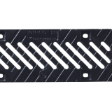 birco 100 cast iron diagonal slotted steel grate 12mm