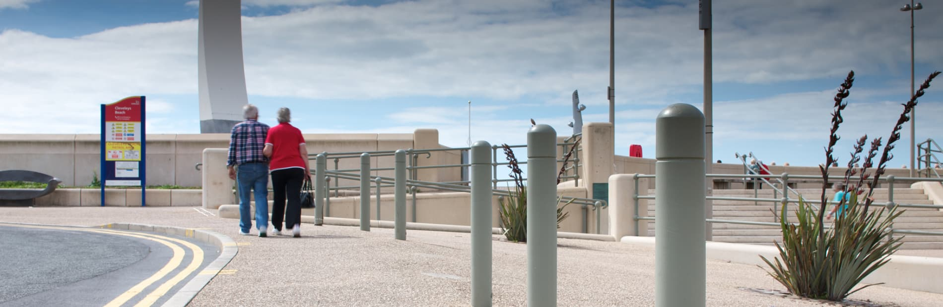bollards on the seafront