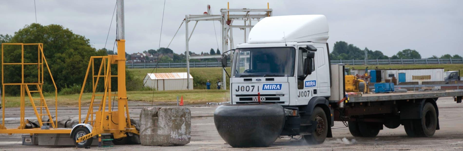Bollard crash test