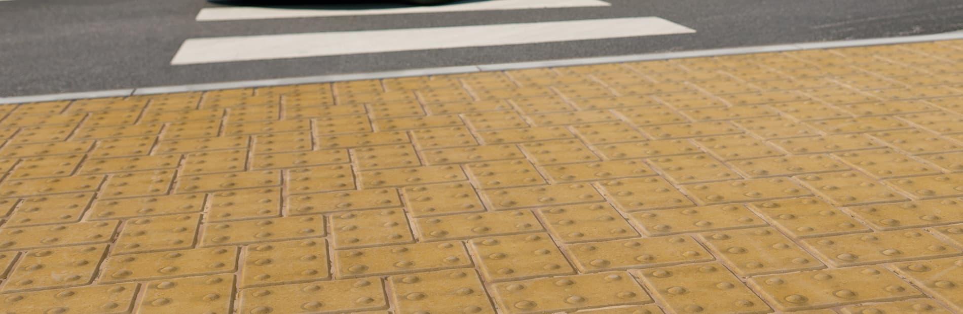 blister concrete block paving - buff