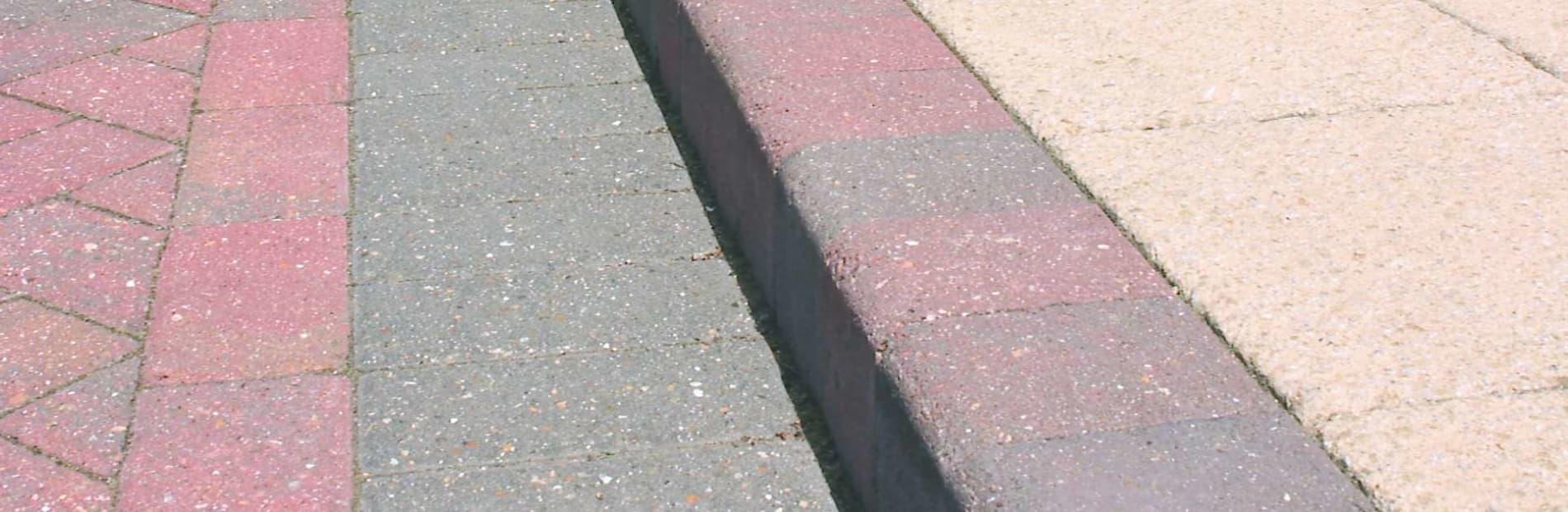 British standard kerb in a car park
