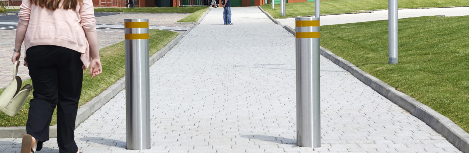 protective 75/50 stainless steel bollard