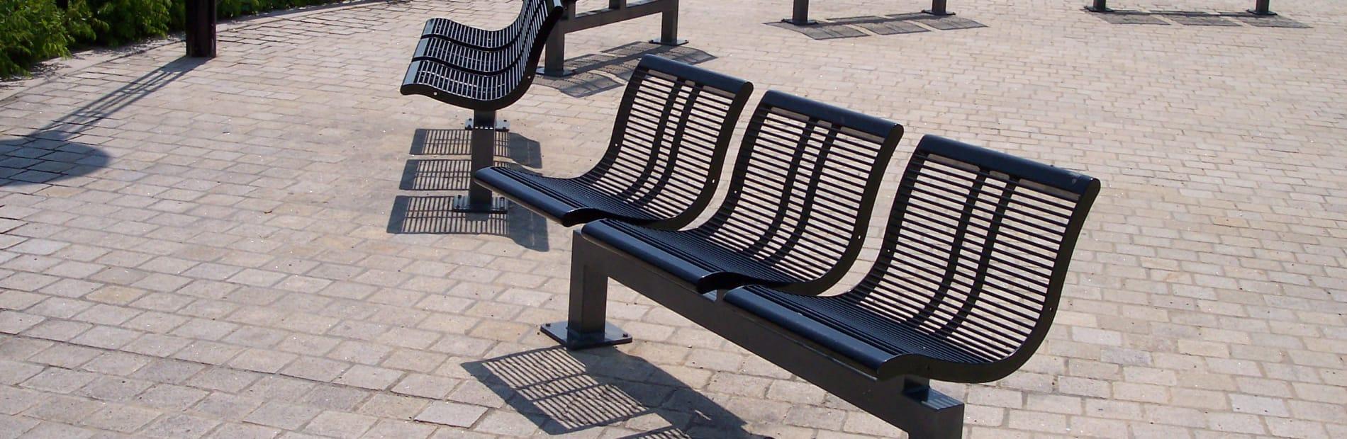 urban city trio seat in steel