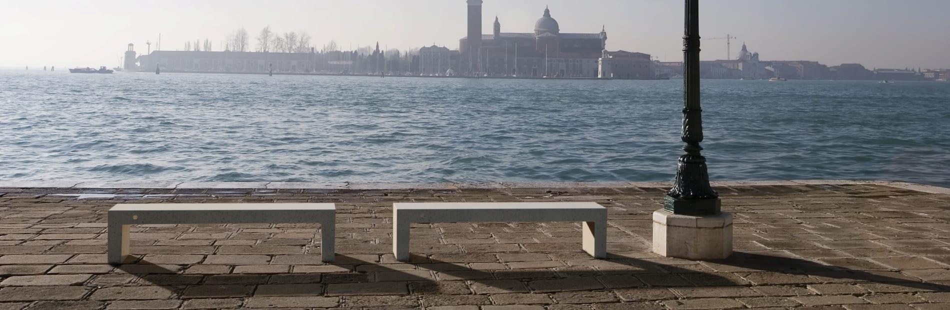 venezia precious stone bench