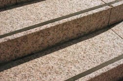 rosalind granite steps with rubber in-lay step tread