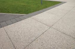 conservation textured paving and kerb - endike primary school - hull