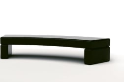 geoform stonelements curved bench with block legs in natural stone