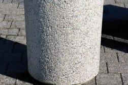 monoscape strada concrete litter bin