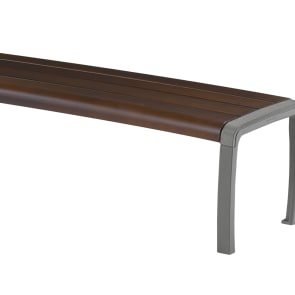 sineu graff twist three place curved bench