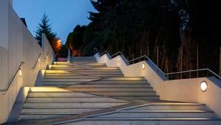 BEGA Adjustable Circular Recessed Wall Luminaire