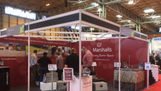 Marshalls stand featuring a range of linear drainage products at Traffex trade show 2015