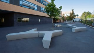 Twig Concrete Bench