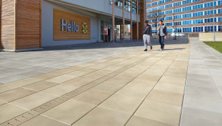 Tesco Extra with linear drainage outside