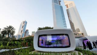 3D printed pod which could double up as a house or office